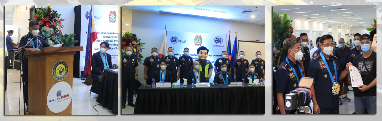 Signing of Memorandum of Agreement between the PNP and SM and launching of National Police Clearance System at SM Mall of Asia in Pasay City